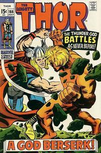 Cover Thumbnail for Thor (Marvel, 1966 series) #166 [Regular Edition]