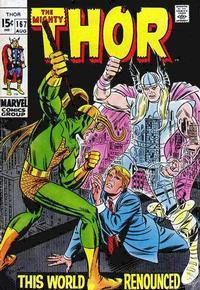 Cover Thumbnail for Thor (Marvel, 1966 series) #167 [Regular Edition]