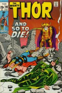 Cover Thumbnail for Thor (Marvel, 1966 series) #190 [Regular Edition]