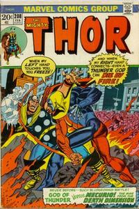 Cover Thumbnail for Thor (Marvel, 1966 series) #208 [Regular Edition]