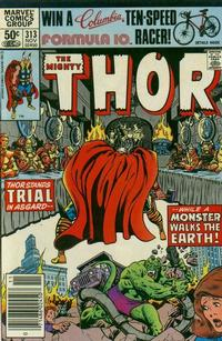 Cover Thumbnail for Thor (Marvel, 1966 series) #313 [Newsstand]