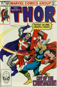 Cover Thumbnail for Thor (Marvel, 1966 series) #330 [Direct]