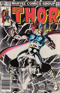 Cover Thumbnail for Thor (Marvel, 1966 series) #334 [Newsstand Edition]