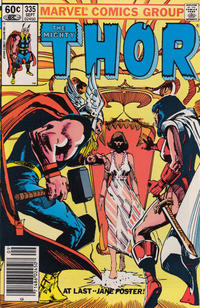 Cover Thumbnail for Thor (Marvel, 1966 series) #335 [Newsstand Edition]