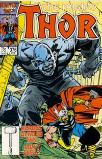 Cover Thumbnail for Thor (Marvel, 1966 series) #376 [Direct]