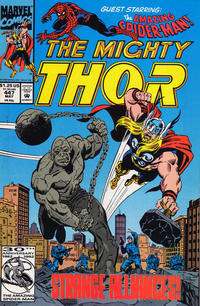 Cover Thumbnail for Thor (Marvel, 1966 series) #447 [Direct Edition]