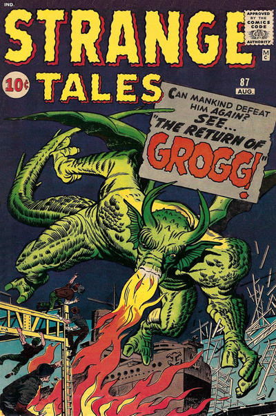 Cover for Strange Tales (Marvel, 1951 series) #87