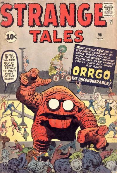 Cover for Strange Tales (Marvel, 1951 series) #90