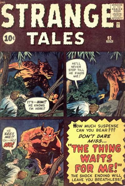 Cover for Strange Tales (Marvel, 1951 series) #92