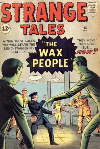 Cover for Strange Tales (Marvel, 1951 series) #93 [UK Edition]