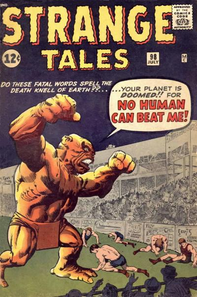 Cover for Strange Tales (Marvel, 1951 series) #98