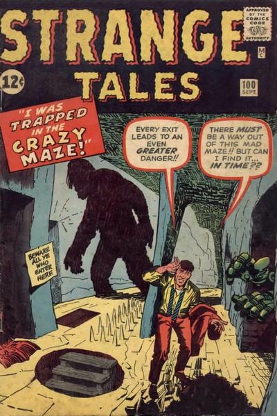 Cover for Strange Tales (Marvel, 1951 series) #100