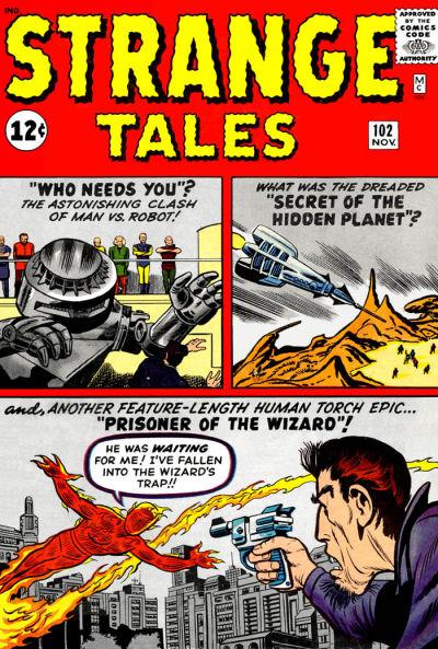 Cover for Strange Tales (Marvel, 1951 series) #102