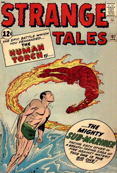 Cover for Strange Tales (Marvel, 1951 series) #107