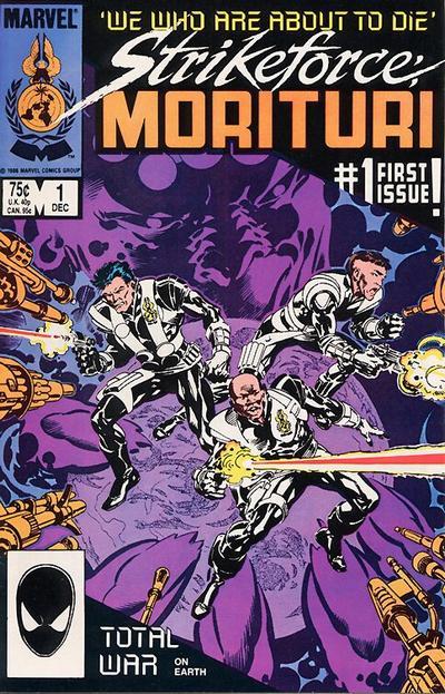 Cover for Strikeforce: Morituri (Marvel, 1986 series) #1 [Direct]