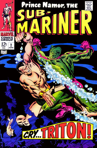 Cover for Sub-Mariner (Marvel, 1968 series) #2