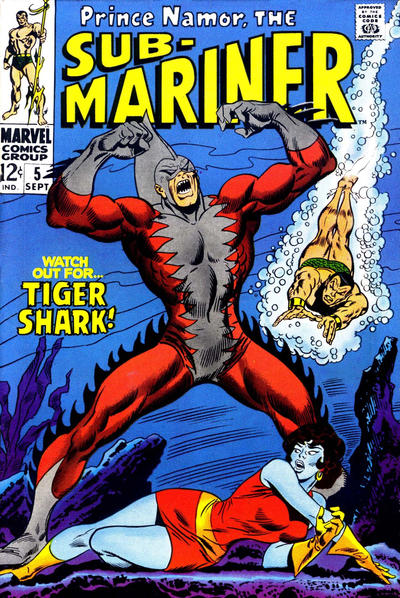 Cover for Sub-Mariner (Marvel, 1968 series) #5