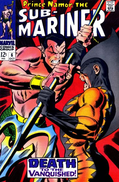 Cover for Sub-Mariner (Marvel, 1968 series) #6