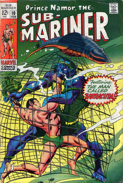 Cover for Sub-Mariner (Marvel, 1968 series) #10