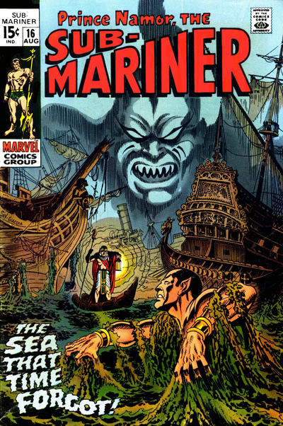 Cover for Sub-Mariner (Marvel, 1968 series) #16