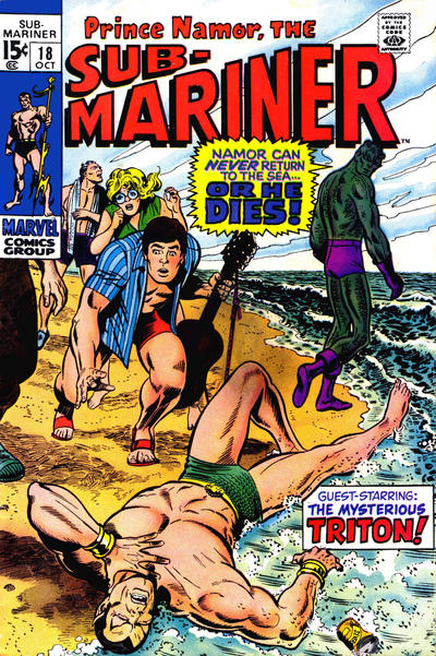 Cover for Sub-Mariner (Marvel, 1968 series) #18