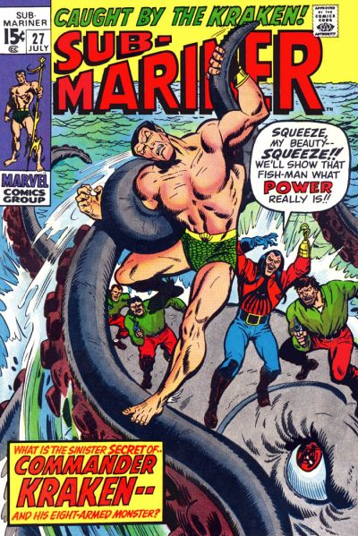 Cover for Sub-Mariner (Marvel, 1968 series) #27
