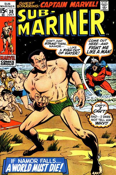 Cover for Sub-Mariner (Marvel, 1968 series) #30 [British price variant.]