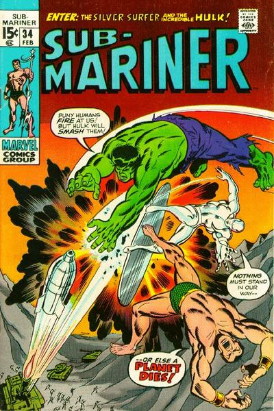 Cover for Sub-Mariner (Marvel, 1968 series) #34