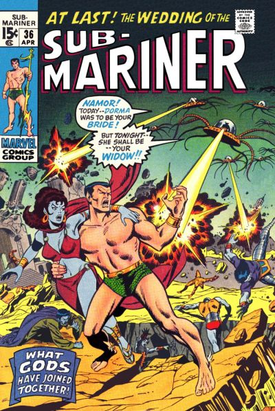 Cover for Sub-Mariner (Marvel, 1968 series) #36
