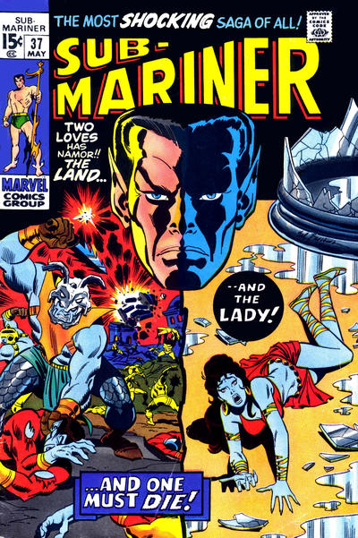 Cover for Sub-Mariner (Marvel, 1968 series) #37