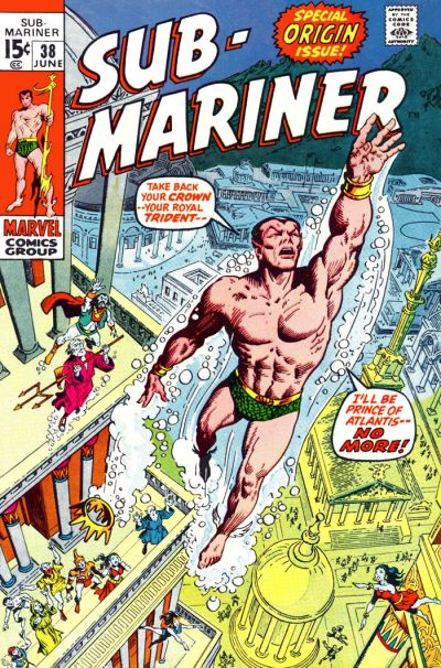 Cover for Sub-Mariner (Marvel, 1968 series) #38