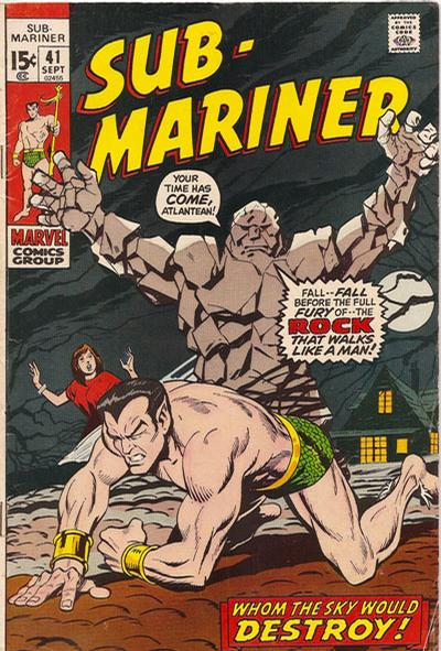 Cover for Sub-Mariner (Marvel, 1968 series) #41