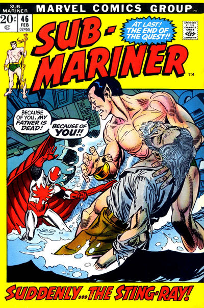 Cover for Sub-Mariner (Marvel, 1968 series) #46 [British price variant.]