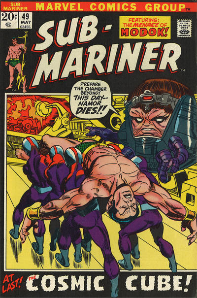 Cover for Sub-Mariner (Marvel, 1968 series) #49 [British price variant.]