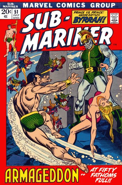 Cover for Sub-Mariner (Marvel, 1968 series) #51