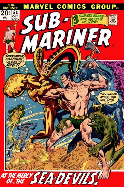 Cover for Sub-Mariner (Marvel, 1968 series) #54