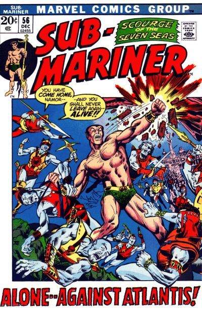 Cover for Sub-Mariner (Marvel, 1968 series) #56