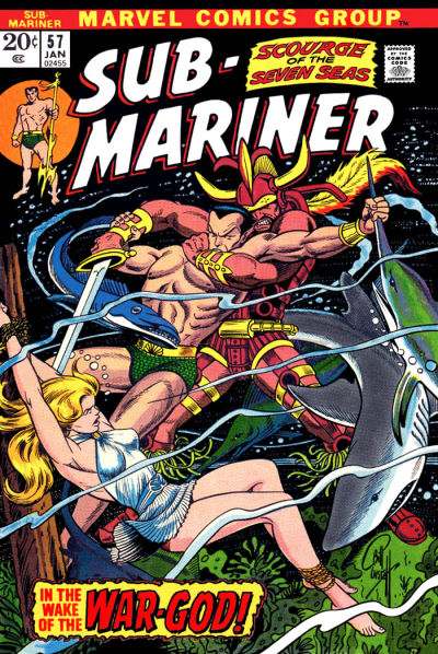 Cover for Sub-Mariner (Marvel, 1968 series) #57