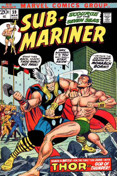 Cover for Sub-Mariner (Marvel, 1968 series) #59