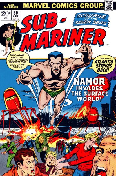 Cover for Sub-Mariner (Marvel, 1968 series) #60