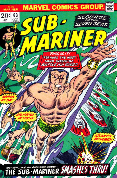 Cover for Sub-Mariner (Marvel, 1968 series) #63