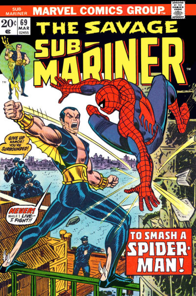 Cover for Sub-Mariner (Marvel, 1968 series) #69