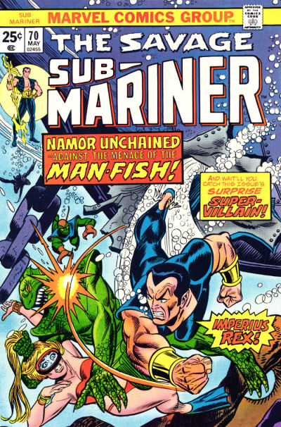 Cover for Sub-Mariner (Marvel, 1968 series) #70