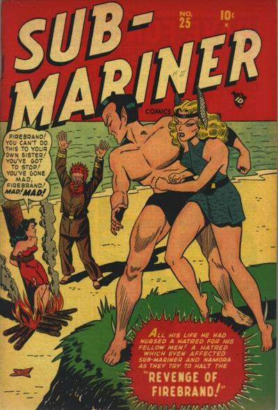 Cover for Sub-Mariner Comics (Marvel, 1941 series) #25