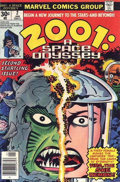 Cover for 2001, A Space Odyssey (Marvel, 1976 series) #2 [Regular Edition]