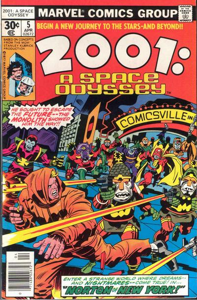 Cover for 2001: A Space Odyssey (Marvel, 1976 series) #5