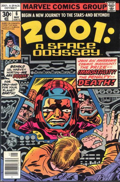 Cover for 2001: A Space Odyssey (Marvel, 1976 series) #6