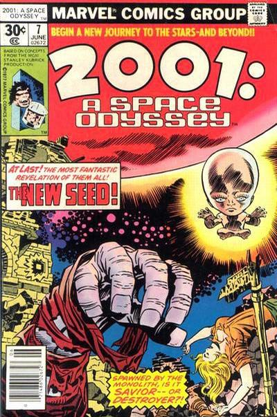 Cover for 2001, A Space Odyssey (Marvel, 1976 series) #7 [35¢ Price Variant]