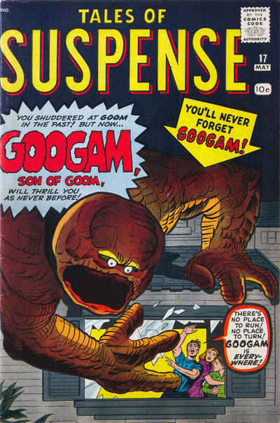 Cover for Tales of Suspense (Marvel, 1959 series) #17