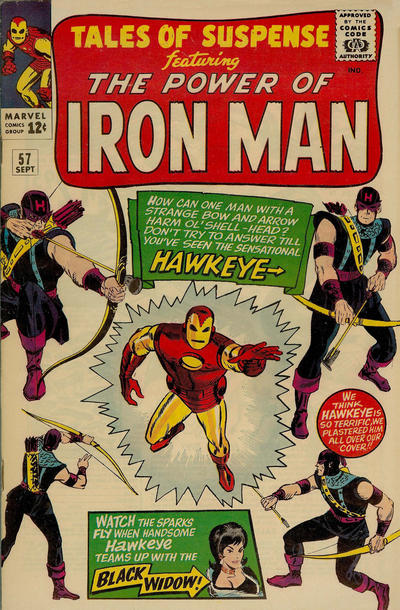 Cover for Tales of Suspense (Marvel, 1959 series) #57